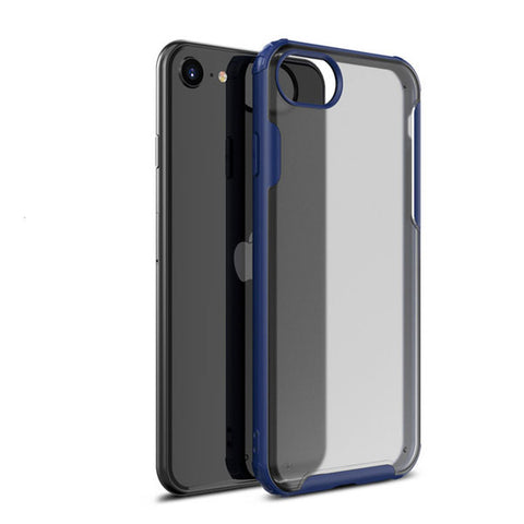 iPhone 7 Case Navy Blue Soft TPU Silicone Bumper Case-CoolDesignOnline