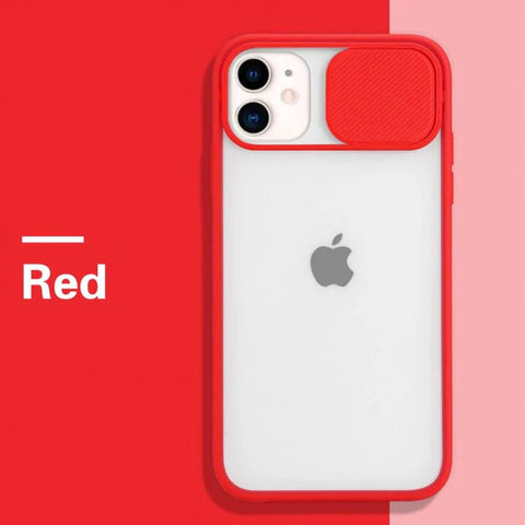 iPhone 11 Case Red Candy Color Camera Lens Protection Cover-CoolDesignOnline