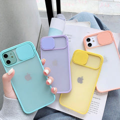 iPhone 11 Pro Max Case Yellow Candy Color Camera Lens Protection Cover-CoolDesignOnline