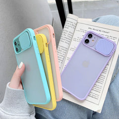 iPhone 11 Pro Max Case Navy Blue Candy Color Camera Lens Protection Cover-CoolDesignOnline