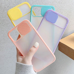 iPhone 11 Pro Case Pink Candy Color Camera Lens Protection Cover-CoolDesignOnline