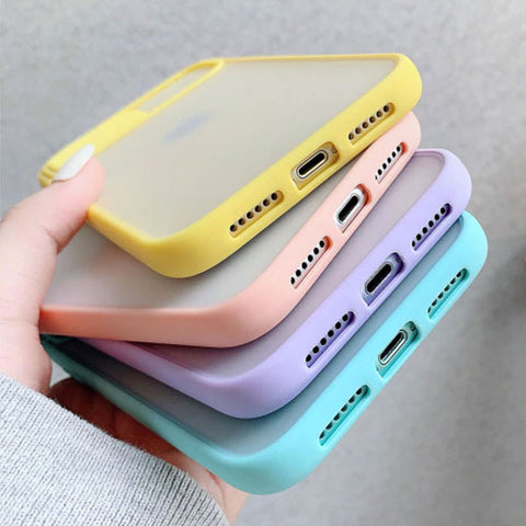 iPhone 11 Case Pink Candy Color Camera Lens Protection Cover-CoolDesignOnline