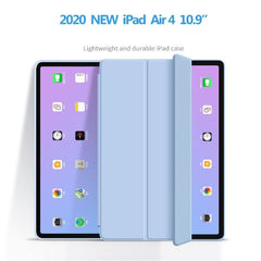 iPad Air 4 Case With Pencil Holder 10.9 Blue Trifold Smart Cover-CoolDesignOnline