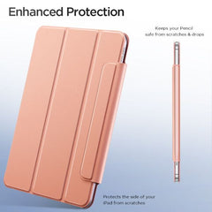 iPad Air 4 Case With Pencil Holder 2020 Rose Gold Magnetic Smart Cover-CoolDesignOnline
