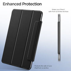 iPad Air 4 Case With Pencil Holder 2020 Black Magnetic Smart Cover-CoolDesignOnline