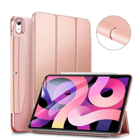 "iPad Air 4 Case With Pencil Holder 10.9"" Rose Gold Light Smart Cover-CoolDesignOnline"