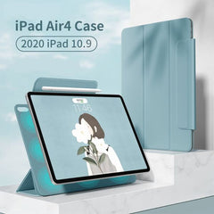"iPad Air 4 Case With Pencil Holder 2020 10.9"" Dark Green Magnetic Cover-CoolDesignOnline"