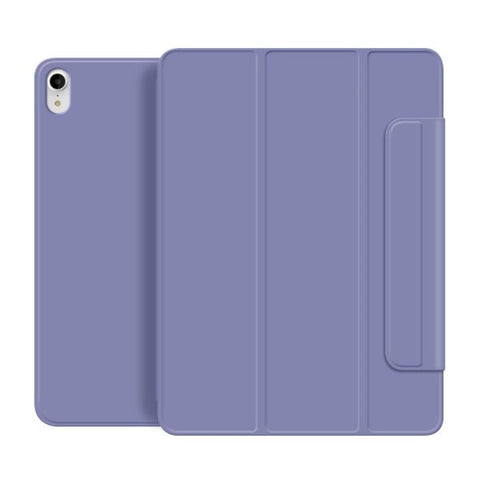 "iPad Air 4 Case With Pencil Holder 2020 10.9"" Purple Magnetic Cover-CoolDesignOnline"