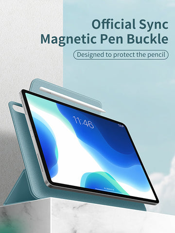 "iPad Air 4 Case With Pencil Holder 2020 10.9"" Green Magnetic Cover-CoolDesignOnline"