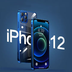 iPhone 12 Pro Case Blue Plating TPU Transparent Soft Clear Cover-CoolDesignOnline