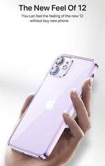 iPhone 12 11 Pro Max mini Case Plating TPU Transparent Soft Clear Cover -Best Buy-CoolDesignOnline