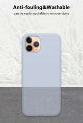 iPhone 12 Pro Case Clear Lavender Gray Luxury Liquid iPhone Cover-CoolDesignOnline