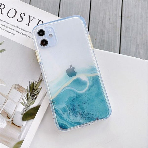 iPhone 12 Pro Max Case Color Marble Protective iPhone Cover MH-CoolDesignOnline