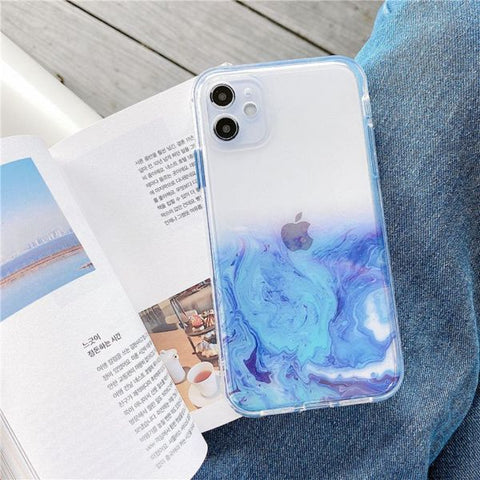 iPhone 12 Case Color Marble Protective iPhone Cover MF-CoolDesignOnline