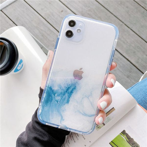 iPhone 12 Case Color Marble Protective iPhone Cover MG-CoolDesignOnline