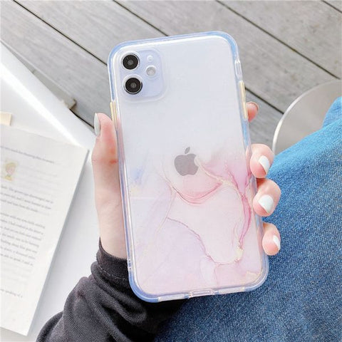 iPhone 12 Pro Max Case Color Marble Protective iPhone Cover MU-CoolDesignOnline
