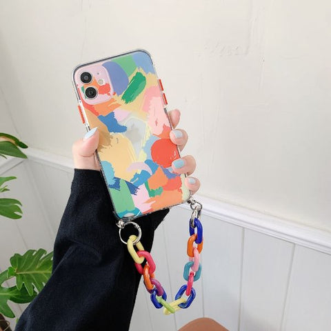 iPhone 11 Pro Case Graffiti Bracelet Colorful iPhone Cover-CoolDesignOnline