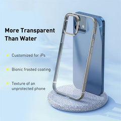 iPhone 12 Pro Case Gold Plating Transparent iPhone Cover-CoolDesignOnline