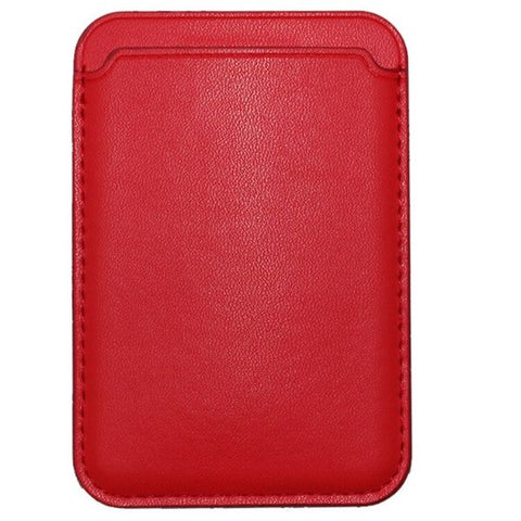 iPhone Leather Wallet with MagSafe Red Magnetic Card Bag For iPhone 12-CoolDesignOnline