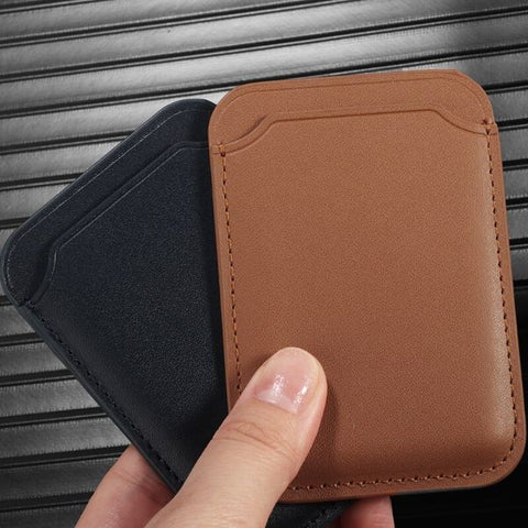 iPhone Leather Wallet with MagSafe Black Magnetic Card Bag For iPhone 12-CoolDesignOnline