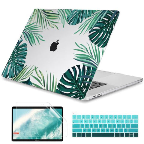 Macbook Air 13 inch Case Leaves Printed Macbook Air Case Cover M905