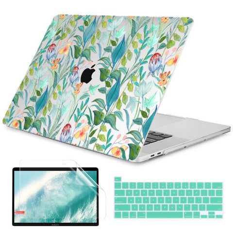 Macbook Air 13 inch Case Leaves Printed Macbook Air Case Cover X179