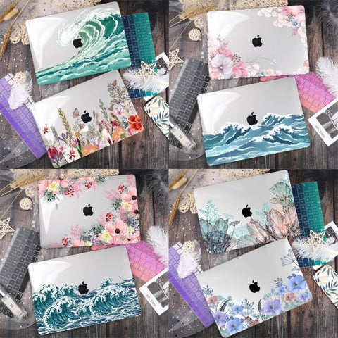 Macbook Pro Cases Macbook Pro 13 inch Case Waves Print Cover X122
