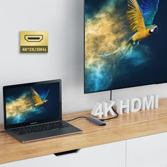MacBook Pro Dock iPad Pro USB C Type C Hub SD TF 4K HDMI 6-in-1-CoolDesignOnline
