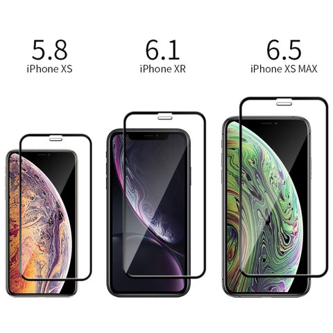 iPhone XS Max Screen Protector Tempered Glass Full Cover-CoolDesignOnline