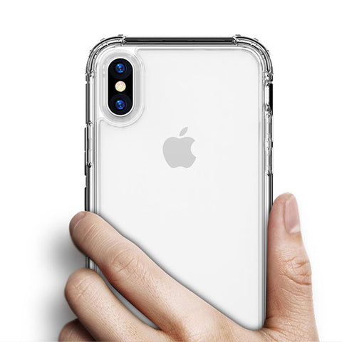 iPhone XS Case Four Corner Strengthen Silicon Clear iPhone Cover Transparent-CoolDesignOnline