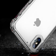 iPhone XS Max Case Four Corner Strengthen Silicon Clear iPhone Cover Gray-CoolDesignOnline