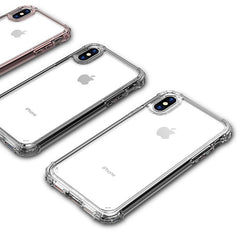 iPhone XS Max Case Four Corner Strengthen Silicon Clear iPhone Cover T3-CoolDesignOnline