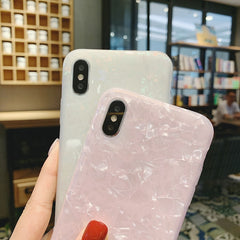 iPhone XS Max Case Glitter Glossy Marble Bling iPhone Cover White-CoolDesignOnline