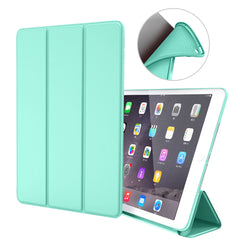 iPad mini 5 Case Leather Trifold Stand Soft Silicone Smart Cover Mint-CoolDesignOnline