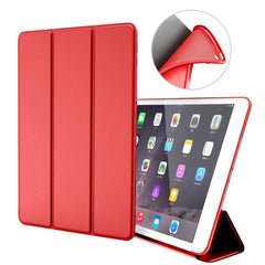 iPad mini 4 Case Leather Trifold Stand Soft Silicone Smart Cover Red-CoolDesignOnline
