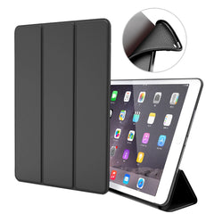 iPad mini 4 Case Leather Trifold Stand Soft Silicone Smart Cover Black-CoolDesignOnline