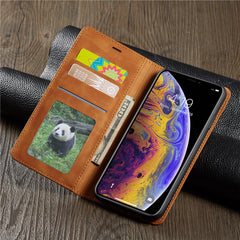 iPhone XS Max Wallet Case Leather Flip Card Holder iPhone Case Black-CoolDesignOnline