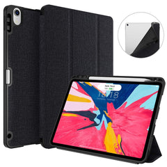 iPad Pro 3rd Generation Case 12.9 inch With Pencil Holder Cover Black 02-CoolDesignOnline