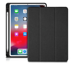 iPad Pro 3rd Generation Case 12.9 inch With Pencil Holder Cover Black-CoolDesignOnline