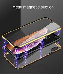 iPhone X Case Sliver Metal Magnetic Adsorption iPhone Cover-CoolDesignOnline