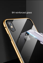 iPhone XS Max Case Metal Magnetic Adsorption iPhone Cover Black-CoolDesignOnline