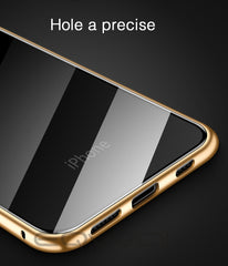iPhone XS Case Metal Magnetic Adsorption iPhone Cover Gold-CoolDesignOnline