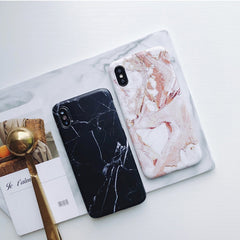 iPhone XS Max Case Pink White Marble iPhone Cover-CoolDesignOnline