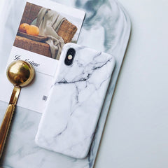 iPhone XS Max Case White Marble iPhone Cover-CoolDesignOnline