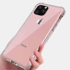 iPhone 11 Case Four Corner Strengthen Clear iPhone Cover Rose-CoolDesignOnline