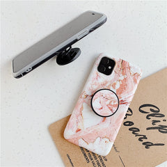 Black Marble iPhone 11 Pro Max Case Stand Holder iPhone Cover-CoolDesignOnline