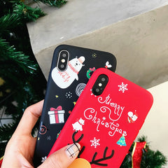 iPhone XS Case 3D Cartoon Christmas Bear iPhone Cover-CoolDesignOnline