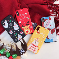 iPhone X Case 3D Cartoon Snowman Bear iPhone Cover-CoolDesignOnline