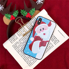 iPhone XS Case 3D Cartoon Christmas Santa Claus iPhone Cover-CoolDesignOnline