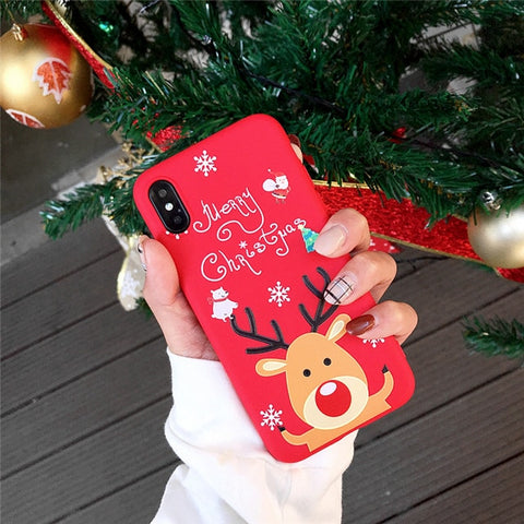 iPhone XS Max Case 3D Cartoon Christmas Deer iPhone Cover-CoolDesignOnline